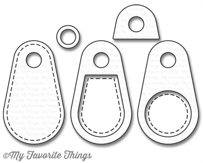 My Favorite Things STITCHED TINY TAGS 2 Die-Namics MFT1070 zoom image