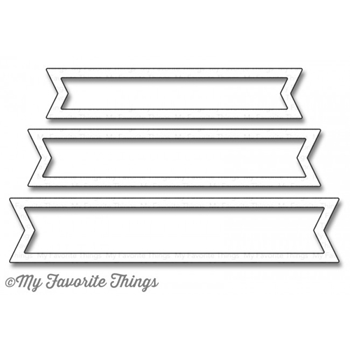 My Favorite Things FISHTAIL FLAG FRAMES Die-Namics MFT1076