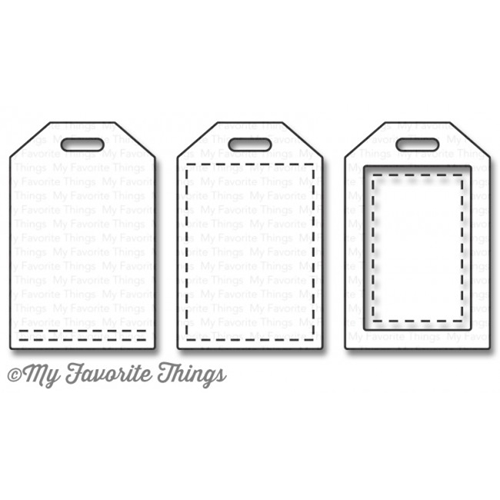 My Favorite Things STITCHED TINY TAGS Die-Namics MFT1064 Preview Image