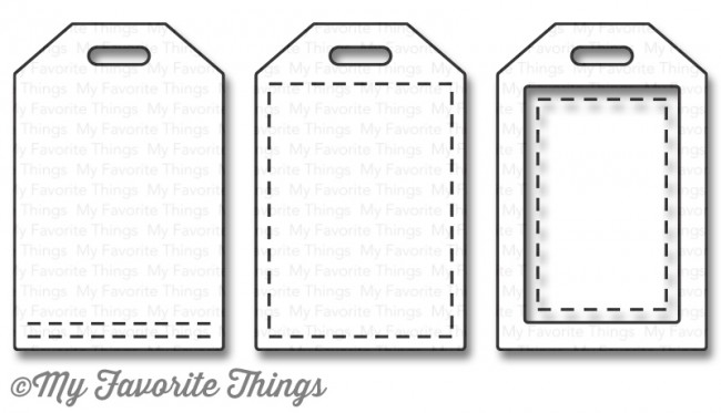 My Favorite Things STITCHED TINY TAGS Die-Namics MFT1064 zoom image