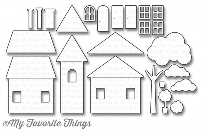 My Favorite Things HOME SWEET HOME Die-Namics MFT1041 zoom image
