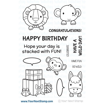 Your Next Stamp STACKED WITH FUN Clear Stamp CYNS529