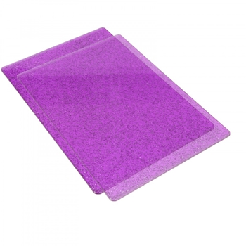 Sizzix PURPLE WITH SILVER GLITTER Standard Cutting Pads Pair 662142
