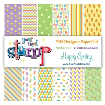 Your Next Stamp HAPPY SPRING 6X6 Paper Pack YNSPP010