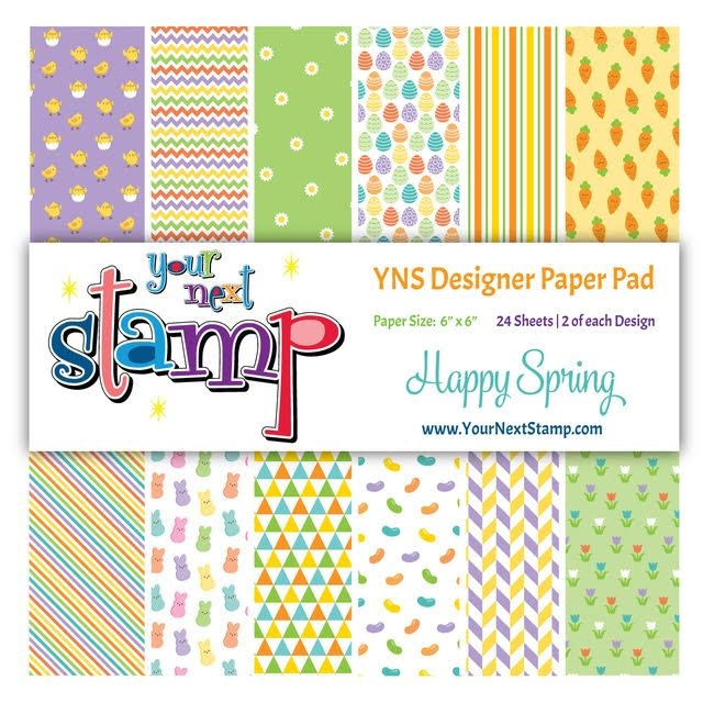 Your Next Stamp HAPPY SPRING 6X6 Paper Pack YNSPP010 zoom image