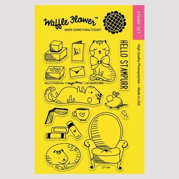Waffle Flower HELLO STAMPURR Clear Stamp Set 271104