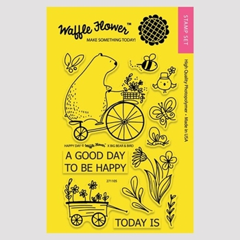 Waffle Flower HAPPY DAY Clear Stamp Set 271105
