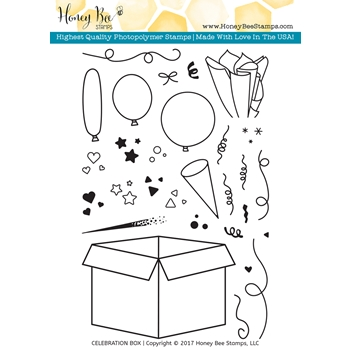 Honey Bee CELEBRATION BOX Clear Stamp Set HBST45