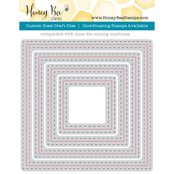 Honey Bee SQUARE DOUBLE STITCHED FRAMES Dies HBDSSQ
