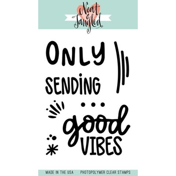 Neat and Tangled GOOD VIBES Clear Stamp Set