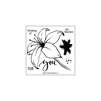 Concord & 9th LILY Clear Stamp Set 10176C9
