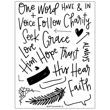 Concord & 9th FAITH AND LOVE Clear Stamp Set 10177C9