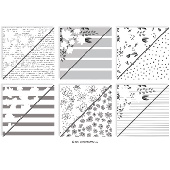 RESERVE Concord & 9th FLORAL FILL-IN Patterned Paper 10187C9