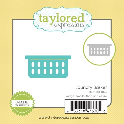 Taylored Expressions Little Bits LAUNDRY BASKET Die Set TE1045 zoom image