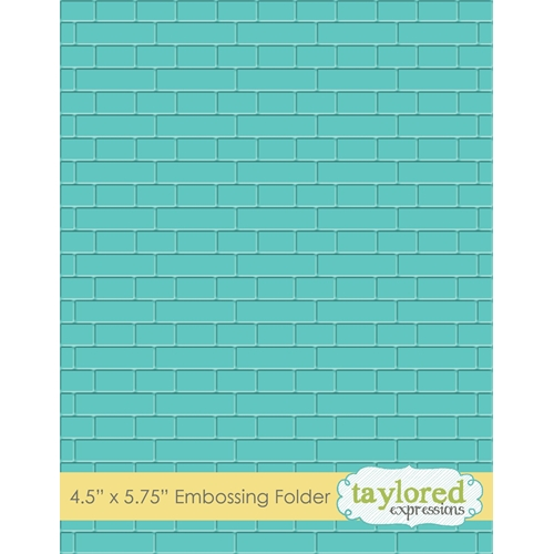 Taylored Expressions SUBWAY TILES Embossing Folder TEEF53 Preview Image
