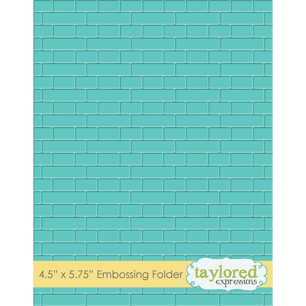 Taylored Expressions SUBWAY TILES Embossing Folder TEEF53 zoom image