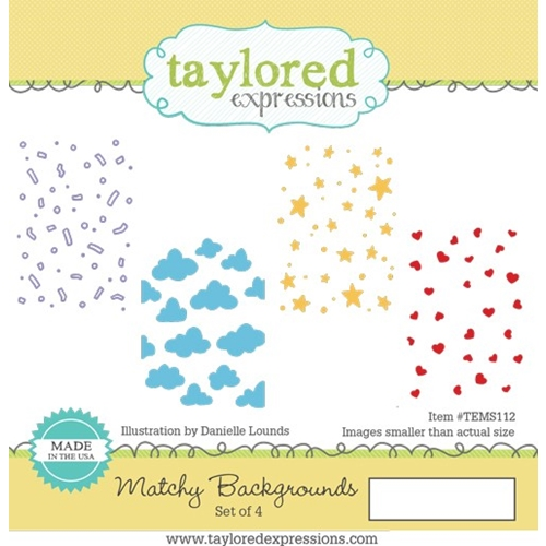 Taylored Expressions MATCHY BACKGROUNDS Cling Stamp Set TEMS112 Preview Image