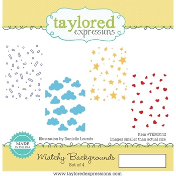 Taylored Expressions MATCHY BACKGROUNDS Cling Stamp Set TEMS112