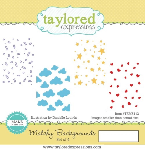 Taylored Expressions MATCHY BACKGROUNDS Cling Stamp Set TEMS112 zoom image