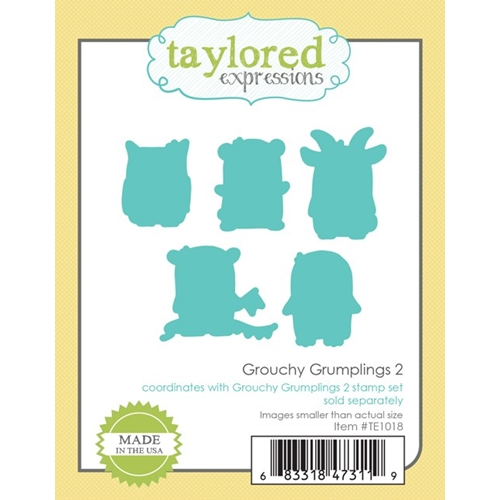 Taylored Expressions GROUCHY GRUMPLINGS 2 DIE Set TE1018 Preview Image