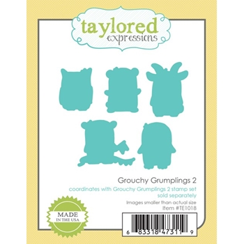 Taylored Expressions GROUCHY GRUMPLINGS 2 DIE Set TE1018