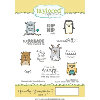 Taylored Expressions GROUCHY GRUMPLINGS 2 Cling Stamp Set TEMD100