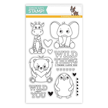 Simon Says Clear Stamps WILD CUDDLY CRITTERS SSS101704