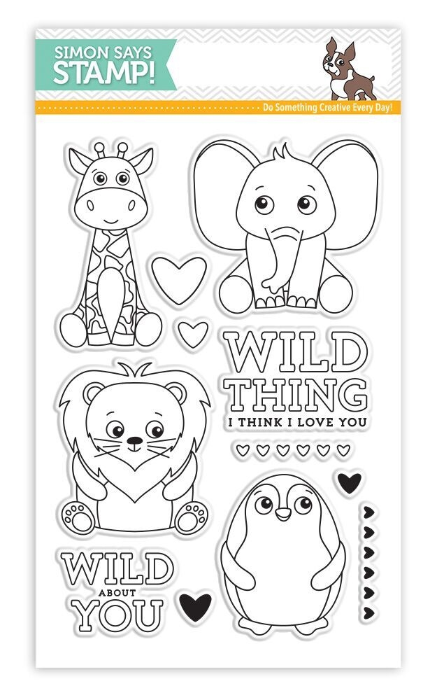Simon Says Clear Stamps WILD CUDDLY CRITTERS SSS101704 zoom image