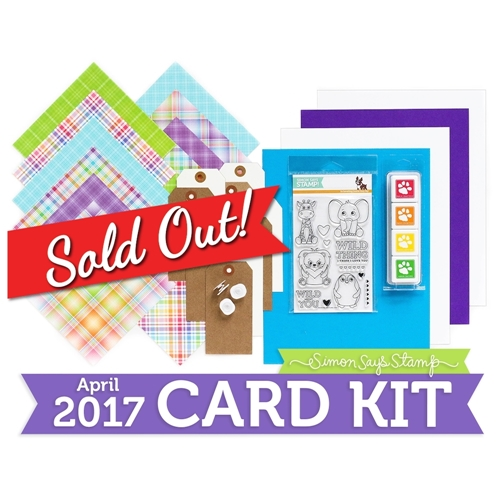 Simon Says Stamp Card Kit of The Month APRIL 2017 WILD AND COLORFUL CK0417 Preview Image