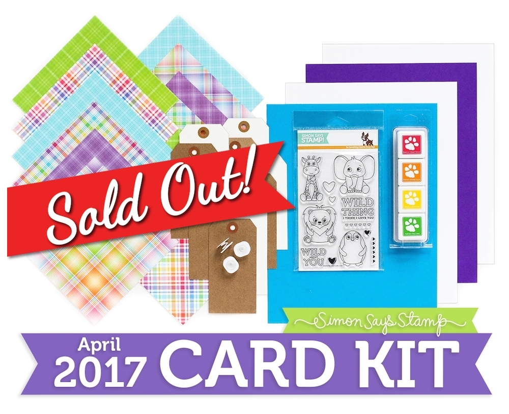 Simon Says Stamp Card Kit of The Month APRIL 2017 WILD AND COLORFUL CK0417 zoom image