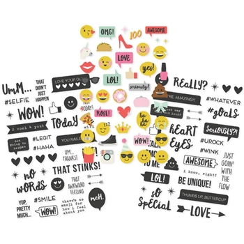 Simple Stories EMOJI LOVE Clear Stickers 8023
