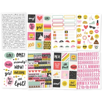 Simple Stories EMOJI LOVE 4 x 6 Stickers 8022