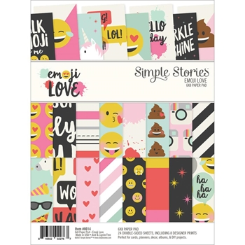 Simple Stories EMOJI LOVE 6 x 8 Paper Pad 8014