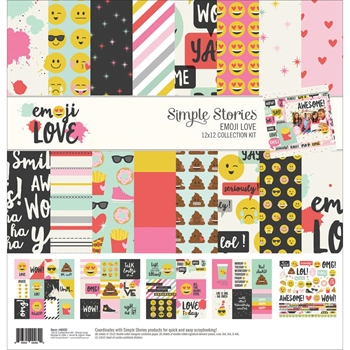 Simple Stories EMOJI LOVE 12 x 12 Collection Kit 8000