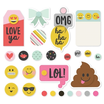 Simple Stories EMOJI LOVE Decorative Brads 8020