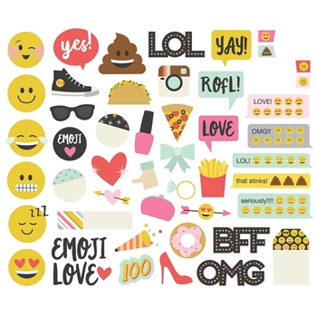 Simple Stories EMOJI LOVE Bits And Pieces 8016