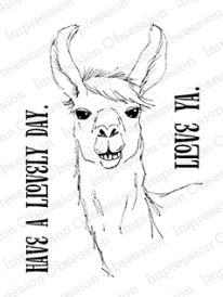 Impression Obsession Llama Love Cling Stamp Set
