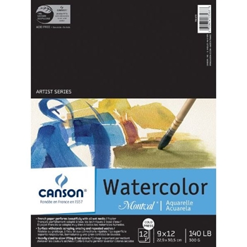 Canson MONTVAL WATERCOLOR 9x12 Pad 702670