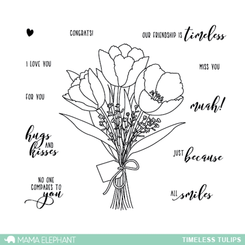 Mama Elephant Clear Stamp TIMELESS TULIPS  Preview Image