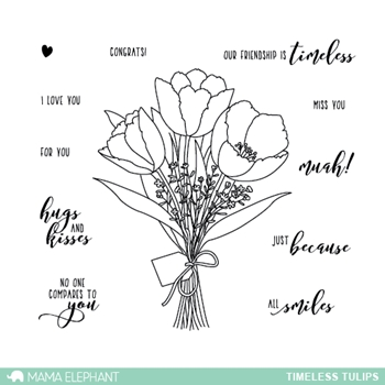 Mama Elephant Clear Stamp TIMELESS TULIPS
