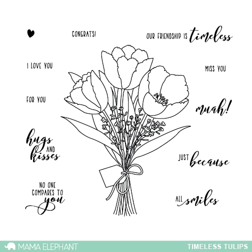 Mama Elephant Clear Stamp TIMELESS TULIPS  zoom image