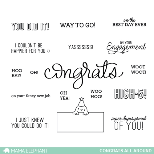 Mama Elephant Clear Stamps CONGRATS ALL AROUND  Preview Image
