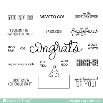 Mama Elephant Clear Stamps CONGRATS ALL AROUND