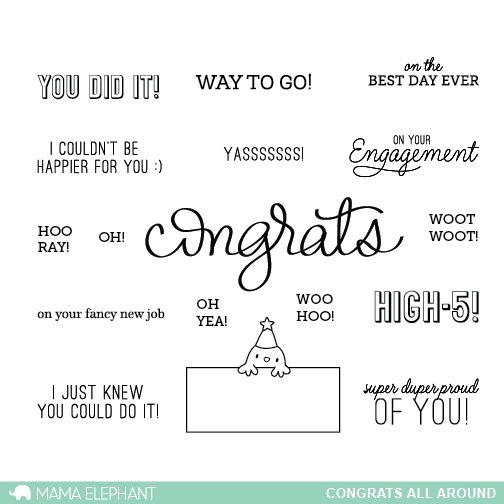 Mama Elephant Clear Stamps CONGRATS ALL AROUND  zoom image