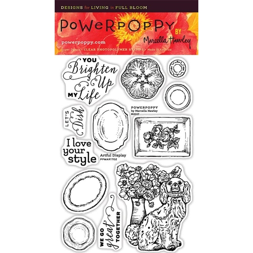 Power Poppy ARTFUL DISPLAY Spring Fling Clear Stamp Set PPMAR1702 Preview Image