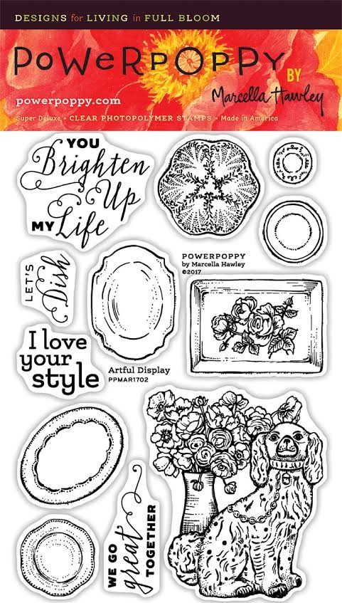 Power Poppy ARTFUL DISPLAY Spring Fling Clear Stamp Set PPMAR1702 zoom image