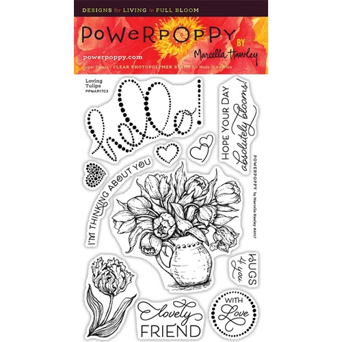 Power Poppy LOVING TULIPS Clear Stamp Set PPMAR1703 Preview Image
