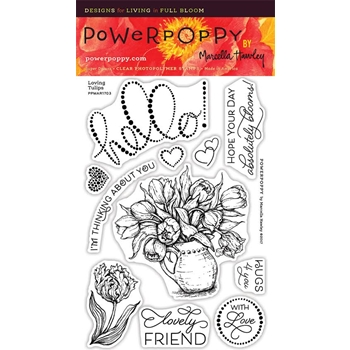 Power Poppy LOVING TULIPS Spring Fling Clear Stamp Set PPMAR1703
