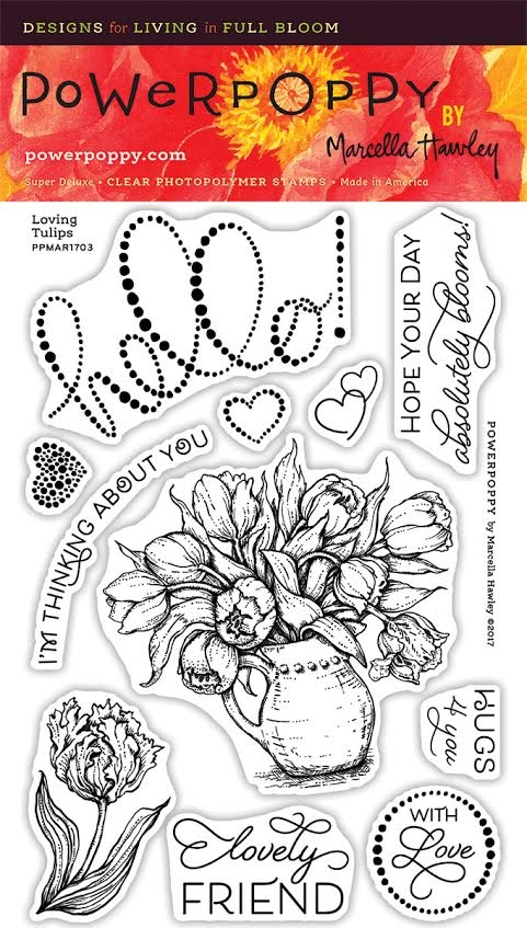 Power Poppy LOVING TULIPS Clear Stamp Set PPMAR1703 zoom image