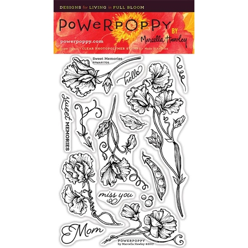 Power Poppy SWEET MEMORIES Spring Fling Clear Stamp Set PPMAR1705 Preview Image